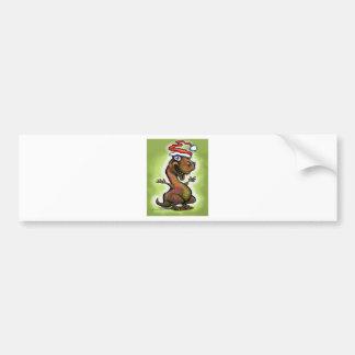 Christmas Baby T-Rex Bumper Sticker