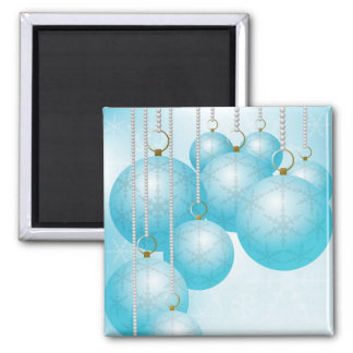 Christmas Background 2 Inch Square Magnet