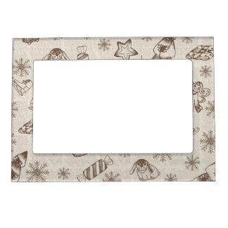 Christmas background magnetic frame