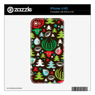 Christmas background pattern wrapping iPhone 4S decals
