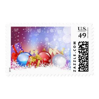 Christmas background postage