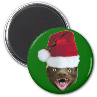 Christmas Badger Don't Care Gifts 2 Inch Round Magnet