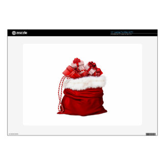 Christmas bag for gifts red skins for laptops