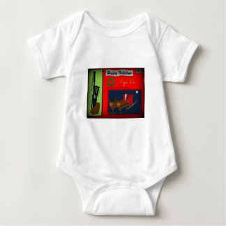 Christmas Bagpipe Theme Baby Bodysuit