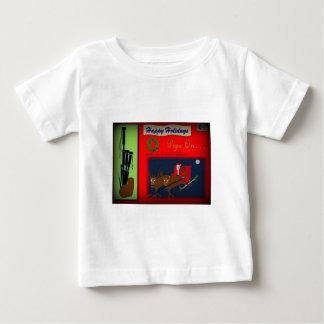 Christmas Bagpipe Theme Baby T-Shirt