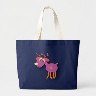 Christmas bags: A cute Deer Large Tote Bag