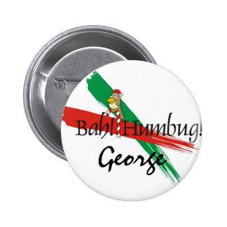 Christmas Bah! Humbug! Pinback Button