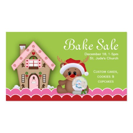 Cute Gingerbread Christmas Bake Sale Bakery Business Cards