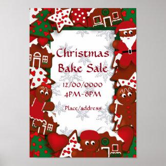 Christmas Bake Sale Gingerbread Poster
