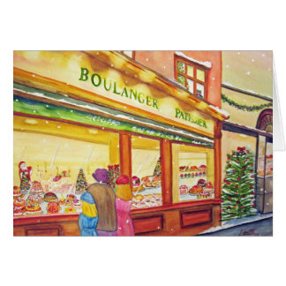 Christmas Bakery in Paris Cards