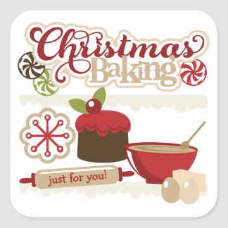 Christmas Baking Gift Tag Stickers