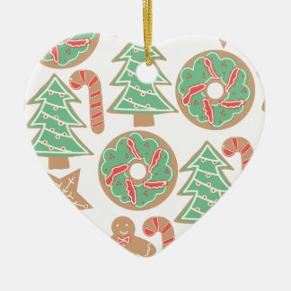 Christmas Baking Print Ceramic Ornament