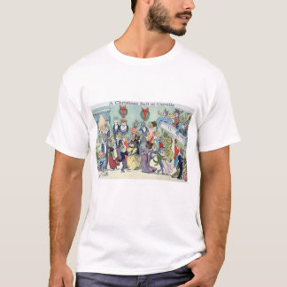 Christmas Ball at Catville, Louis Wain T-Shirt