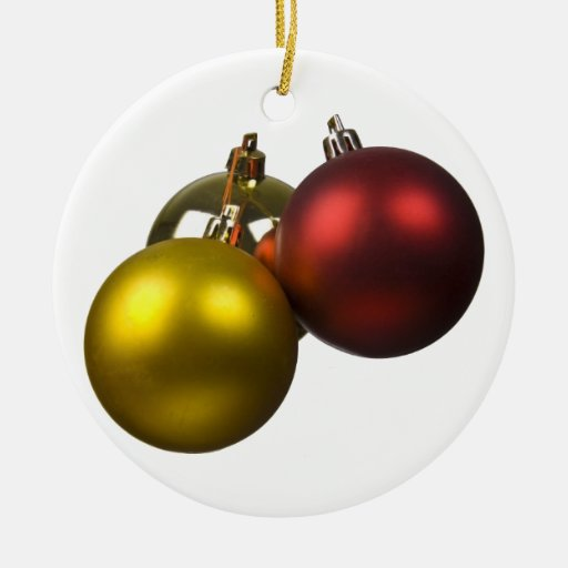christmas ball Double-Sided ceramic round christmas ornament
