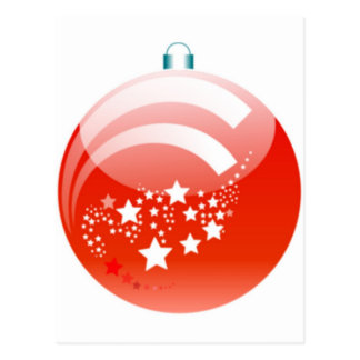 Christmas Ball Ornament Post Cards