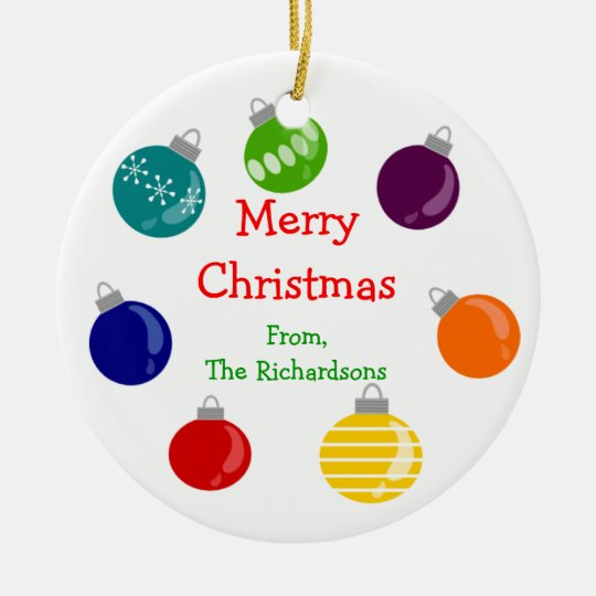 Christmas Ball Personalized Chrstmas Tree Ornament