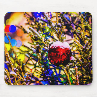 Christmas Ball Red Mouse Pad