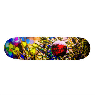 Christmas Ball Red Skateboard