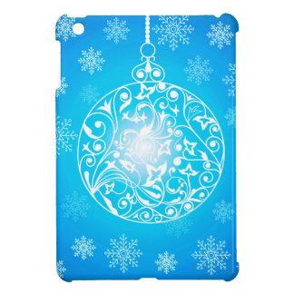 Christmas ball & Snowflakes Background iPad Mini Case