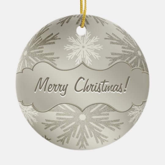 Christmas Ball Snowflakes Silver ornament