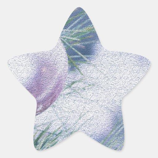 Christmas ball star sticker
