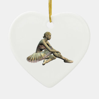 Christmas Ballerina Ceramic Ornament