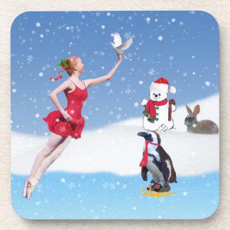 Christmas, Ballerina,Winter Wonderland, Coaster