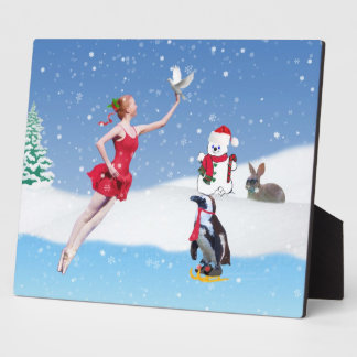 Christmas, Ballerina, Winter Wonderland, Plaque