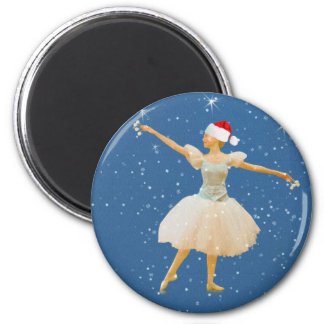 Christmas Ballerina with Castanets Magnet