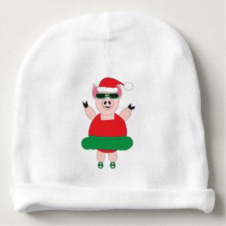 Christmas Ballet Pig Baby Beanie