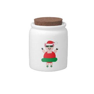 Christmas Ballet Pig Candy Jar
