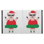 Christmas Ballet Pig Caseable iPad Folio Cases