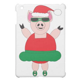 Christmas Ballet Pig iPad Mini Cover