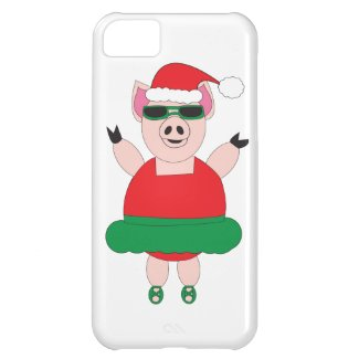 Christmas Ballet Pig iphone case