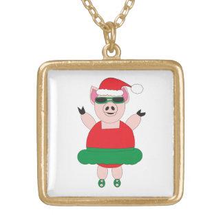 Christmas Ballet Pig Pendant
