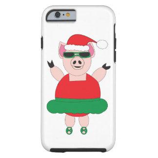 Christmas Ballet Pig Tough iPhone 6 Case