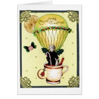 Christmas Balloon Greetting Card