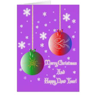 Christmas Balls 3 Greeting Card
