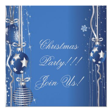 Christmas Themed Christmas Balls And Ribbons Party  Invitation