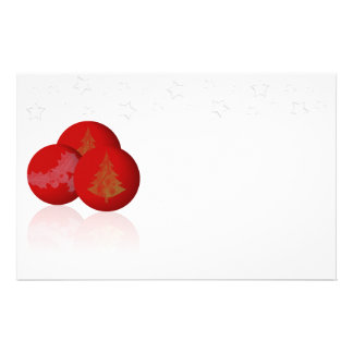 Christmas Balls And Stars Stationery