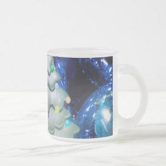 Christmas Balls and Tree,blue Mug