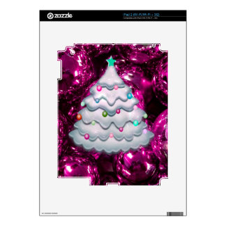 Christmas Balls and Tree,bordeaux iPad 2 Decals