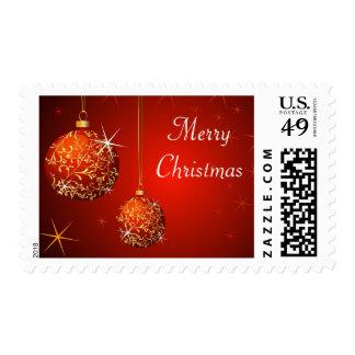 Christmas balls background postage