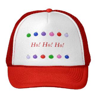 Christmas balls border, Ho! Ho! Ho!, holiday hats