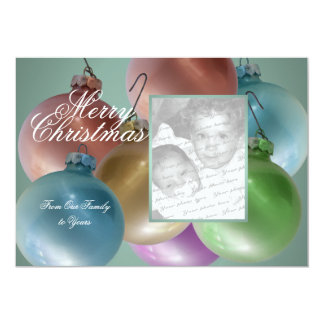 Christmas Balls Colorful Photo Flat Card