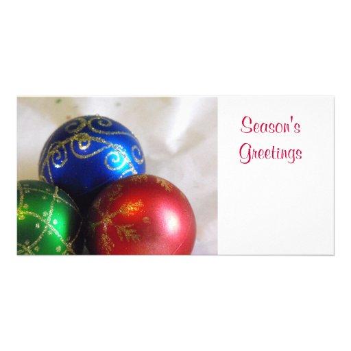 Christmas Balls Customized Photo Card