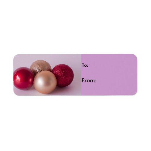 Christmas Balls Gift Label