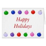 Christmas Balls Happy Holidays greeting card