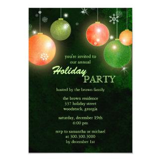 Christmas Balls Hip Holiday Party Flat Invitations