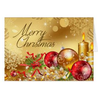 christmas balls holidays card